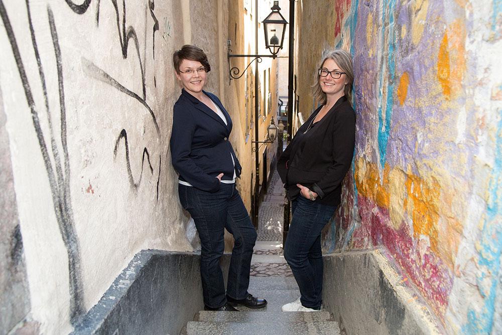 Jenny Strömkvist och Lotta Ulfström. Fotograf: Katarina Norström